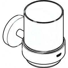Grohe Držák skleničky/mýdelníku, kartáčovaný tmavý grafit 40369AL1