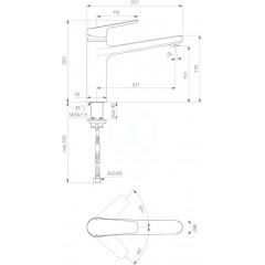 Ideal Standard Dřezová baterie, chrom B0952AA