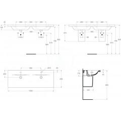 Ideal Standard Dvojumyvadlo 1300x490x175 mm, bílá E813601