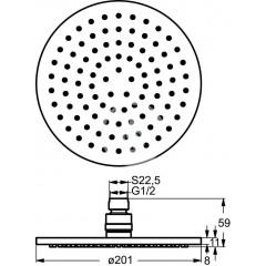 Ideal Standard Hlavová sprcha Idealrain, průměr 200 mm, chrom B9442AA