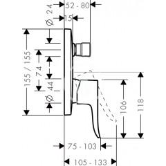 Hansgrohe Vanová baterie pod omítku, chrom 31454000