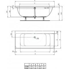Ideal Standard Vana DUO 1700 x 750 mm, bílá E106601