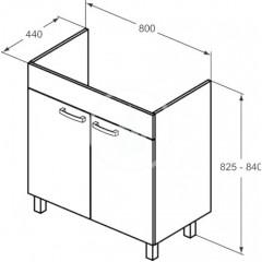 Ideal Standard Skříňka pod umyvadlo 800x440x740 mm, dub pískový E3241OS