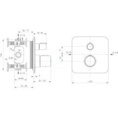 Ideal Standard Termostatická vanová baterie pod omítku, chrom A6345AA