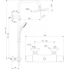 Ideal Standard Sprchový set ECO s termostatem, 3 proudy, chrom A6037AA