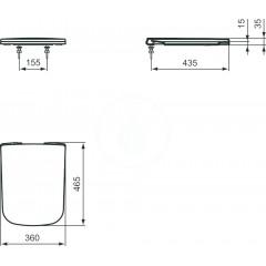 Ideal Standard WC sedátko ultra ploché softclose, bílá J505801