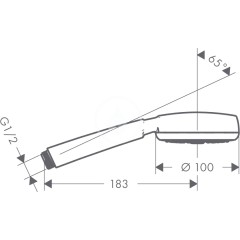Hansgrohe Sprchová hlavice, EcoSmart 7 l/min, bílá/chrom 26829400