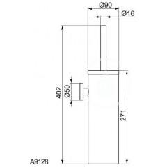 Ideal Standard WC štětka s držákem, nerezová ocel A9128MY