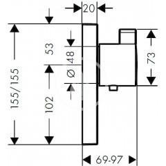 Hansgrohe Termostatická baterie pod omítku, 1 standardní a 1 dodatečný výstup, chrom 15761000