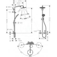 Hansgrohe Sprchový set Showerpipe 240 s termostatem, EcoSmart 9 l/min, chrom 27116000