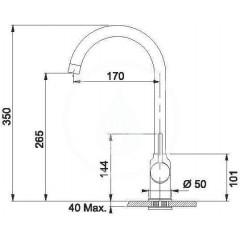 Franke Kuchyňský set T42, tectonitový dřez OID 611, bílá + baterie FP 9400.094, bílá 114.0441.338