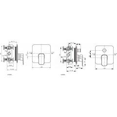 Ideal Standard Vanová baterie pod omítku, chrom A6340AA