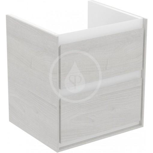Ideal Standard Skříňka pod umyvadlo CUBE 550 mm, šedý dub/matný bílý lak E1607PS