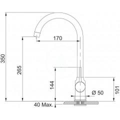 Franke Dřezová baterie FP 9000.085, pískový melír 115.0298.095