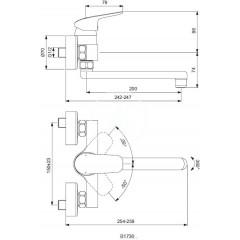 Ideal Standard Dřezová baterie, s otočným vývodem 200 mm chrom B1730AA