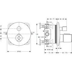 Ideal Standard Termostatická vanová baterie pod omítku, chrom A4888AA