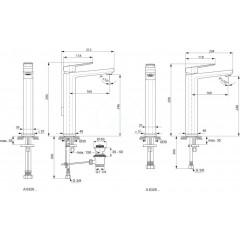 Ideal Standard Umyvadlová baterie s vysokým výtokem, chrom A6329AA