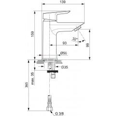 Ideal Standard Umyvadlová baterie, chrom A6559AA