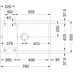 Franke Fragranitový dřez MRG 611-78 BB, 780x500 mm, vanilka 114.0363.225