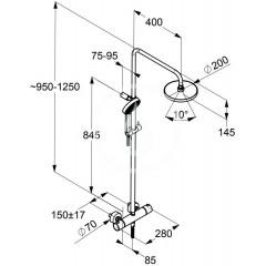 Kludi Sprchový set Dual Shower System, 200 mm, chrom 6609505-00