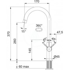 Franke Kuchyňský set G119, fragranitový dřez BSG 611-78/39, grafit + baterie FP 0408.031, chrom 114.0441.089