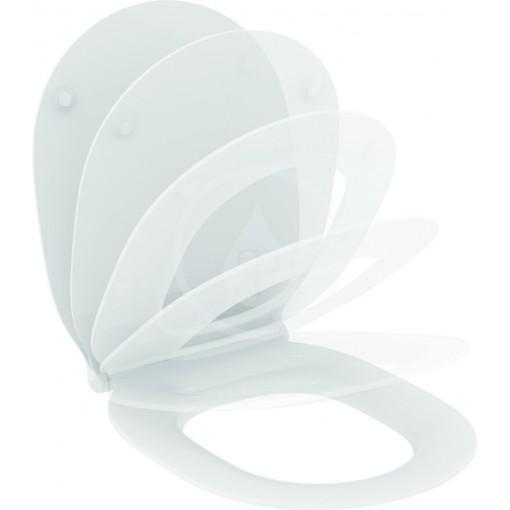Ideal Standard WC sedátko ultra ploché softclose, 365 x 445 x 50 mm, bílá E036601