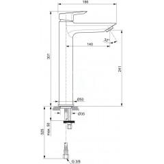 Ideal Standard Umyvadlová baterie, chrom A6575AA