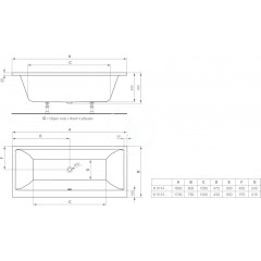Ideal Standard Vana Duo 1800 x 800 mm, bílá K511401