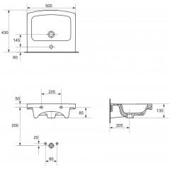 CERSANIT - UMYVADLO EASY 50 1 OTW BOX (K102-012)