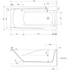 CERSANIT - VANA ZEN 170X85 cm (S301-128)