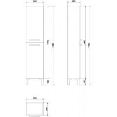 CERSANIT - SLOUPEK MELAR, bílá (S614-004)