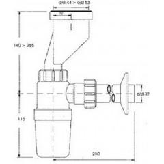 CERSANIT - SIPHON FOR URINAL - BOTTLE TYPE (K97-016)