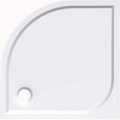 Čtvrtkruhová sprchová zástěna s vaničkou z litého mramoru 900x900x1900mm, čiré sklo