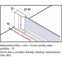 KERMI - Cada XS Jednokřídlé kyvné dveře, panty vlevo šířka 800 mm výška 2000 mm (CC1WL080202PK)