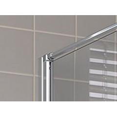 Kermi Boční stěna Cada XS TWD 05020 460-510/2000 stříbrná vys.lesk ESG čiré Clean boční stěna (CCTWD05020VPK)