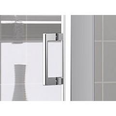 Kermi Boční stěna Cada XS TWD 06520 610-660/2000 stříbrná vys.lesk ESG čiré Clean boční stěna (CCTWD06520VPK)