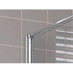 Kermi Boční stěna Cada XS TWD 10020 960-1010/2000 stříbrná vys.lesk ESG čiré Clean boční stěna (CCTWD10020VPK)