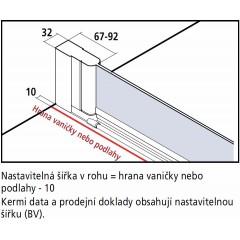 KERMI - Cada XS Jednokřídlé kyvné dveře, panty vlevo šířka 900 mm výška 2000 mm (CC1WL09020VPK)
