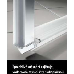 KERMI - Cada XS Jednokřídlé kyvné dveře s pevným polem vlevo šířka 1000 mm výška 2000 mm (CC1GL100202PK)