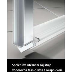 KERMI - Cada XS Jednokřídlé kyvné dveře s pevným polem vlevo šířka 1200 mm výška 2000 mm (CC1GL120202PK)