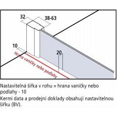 KERMI - Cada XS Jednokřídlé kyvné dveře s pevným polem vlevo šířka 800 mm výška 2000 mm (CC1GL08020VPK)