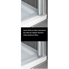 KERMI - Cada XS Jednokřídlé kyvné dveře s pevným polem vlevo šířka 1200 mm výška 2000 mm (CC1GL12020VPK)