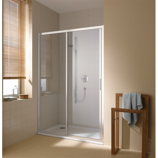 KERMI - Cada XS 2-dílné posuvné dveře s pevným polem vlevo šířka 1300 mm výška 2000 mm (CCG2L130202PK)
