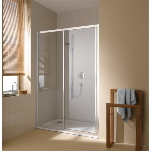 KERMI - Cada XS 2-dílné posuvné dveře s pevným polem vlevo šířka 1200 mm výška 2000 mm (CCG2L12020VVK)