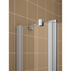 Kermi Boční stěna Cada XS TWF 08020 775-800/2000 stříbrná vys.lesk ESG čiré Clean boční stěna volně stojící (CCTWF08020VPK)
