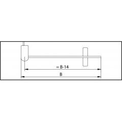 Kermi Boční stěna Cada XS TFR 12020 1175-1200/2000 bílá ESG čiré Clean Boční stěna, samostatně stojící s pohyblivým křídlem (CCTFR120202PK)