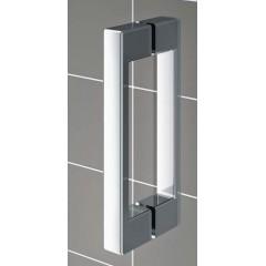 Kermi Boční stěna Cada XS TFR 10020 975-1000/2000 stříbrná vys.lesk ESG čiré Clean Boční stěna, samostatně stojící s pohyblivým křídlem (CCTFR10020VPK)