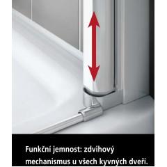 Kermi Boční stěna Cada XS TFR 09020 875-900/2000 stříbrná vys.lesk Serig.CC Clean Boční stěna, samostatně stojící s pohyblivým křídlem (CCTFR09020VVK)
