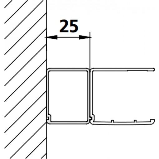Kermi rozšir. profil Cada XS SVSV1 Höhe 2000 mm bílá (ZDSVSV1CC2002K)