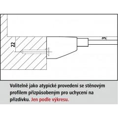 KERMI - FILIA XP / Jednokřídlé kyvné dveře s pevným polem vlevo, do niky (FX1TL10020VPK)